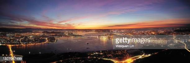 the skyline of xiamen, fujian from the perspective of drone aerial photography - generic description stock pictures, royalty-free photos & images