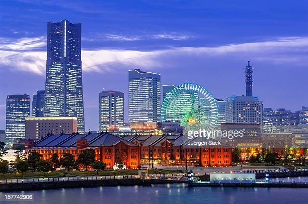 the skyline of yokohama - nationell sevärdhet bildbanksfoton och bilder