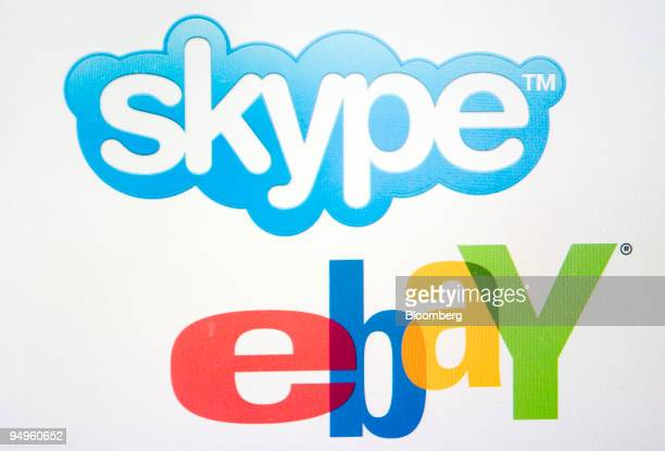 The Skype and EBay Inc logos are arranged on a computer monitor in New York US on Friday June 26 2009 EBay's dispute with the founders of its Skype...