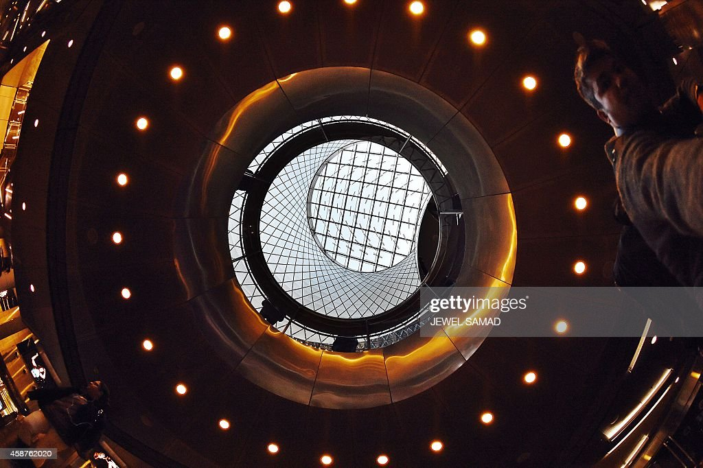 The 'Sky-Reflector-Net' is a landmark of the massive Fulton Center interchange in New York opened in 2014
