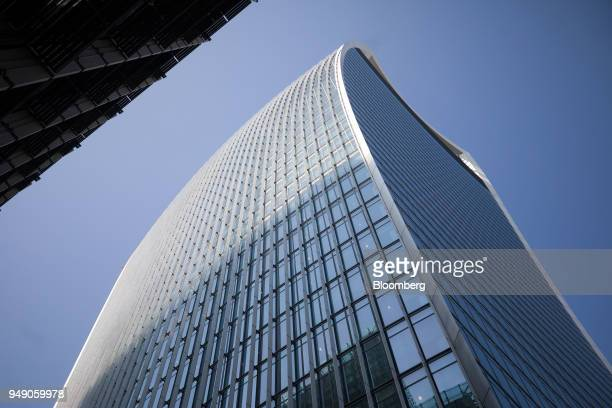 The skyscraper at 20 Fenchurch Street also known as the 'WalkieTalkie' stands in the City of London UK on Friday April 20 2018 Foreign investors are...