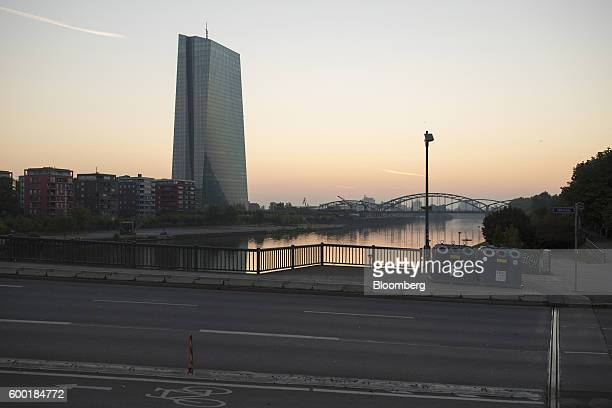The skyscraper headquarters of the European Central Bank stands beside the River Main in Frankfurt Germany on Thursday Sept 8 2016 ECB president...