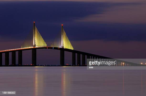 the skyway - st. petersburg florida stock photos and pictures