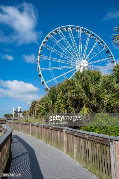 the skywheel at myrtle beach - brycia james stock pictures, royalty-free photos & images