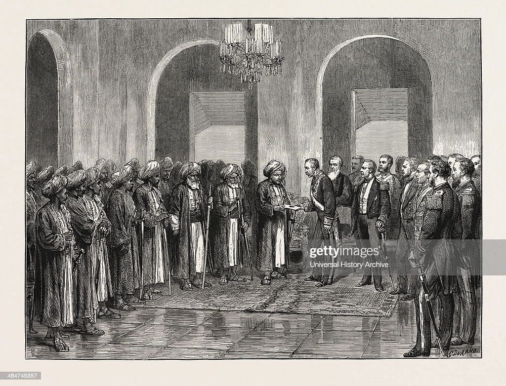 The Slavery Question In East Africa: Reception Of Sir Bartle Frere In Durbar By The Sultan Of Zanzibar : Photo d'actualité
