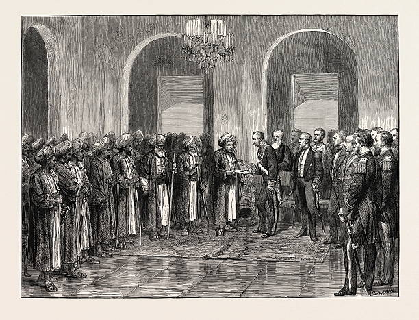 Reception Of Sir Bartle Frere In Durbar By The Sultan Of Zanzibar 1873