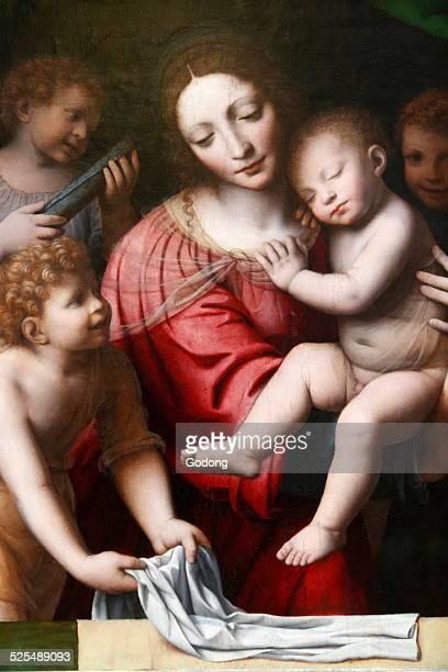 The sleep of the child Jesus presumed to be painted by Bernardino Luini