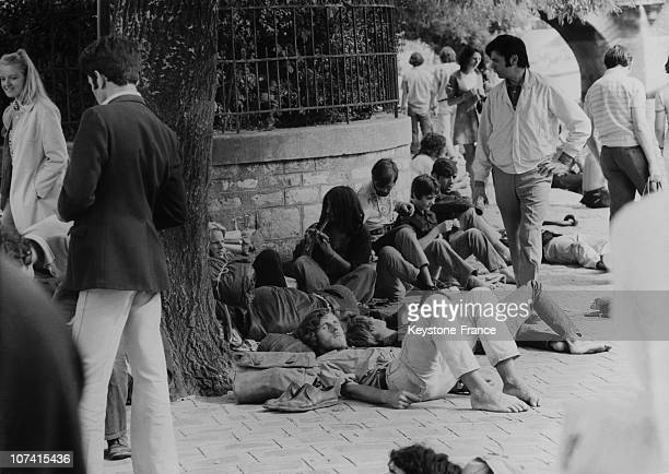 The Sleepers Of The Peninsula Of Vert Galant In Paris On August 1970