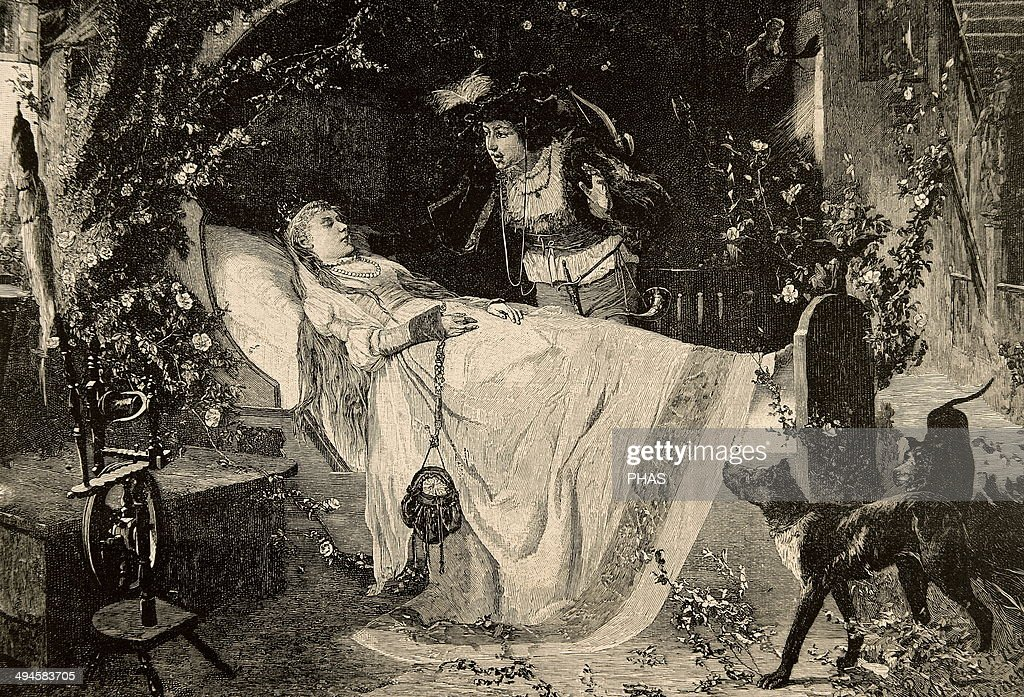 The Sleeping Beauty. Engraving. : News Photo
