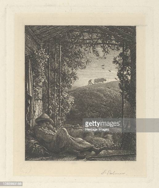 The Sleeping Shepherd; Early Morning, 1857. Artist Samuel Palmer.