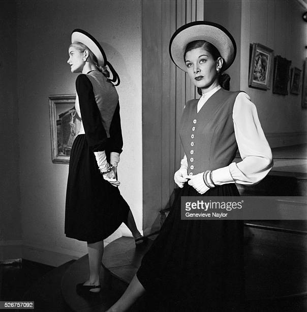 The sleeveless jacket was designed by Norman Norell Norell worked as a fashion designer with Hattie Carnegie Hattie Carnegie is considered to be the...