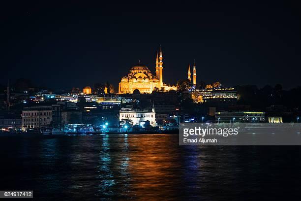 The Süleymaniye Mosque - by night, Istanbul, Turkey