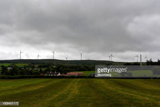 The Slieve Rushen Windfarm stands in Ballyconnell Ireland on Saturday July 21 2018 How to keep the Irish border open after the UK leaves the European...