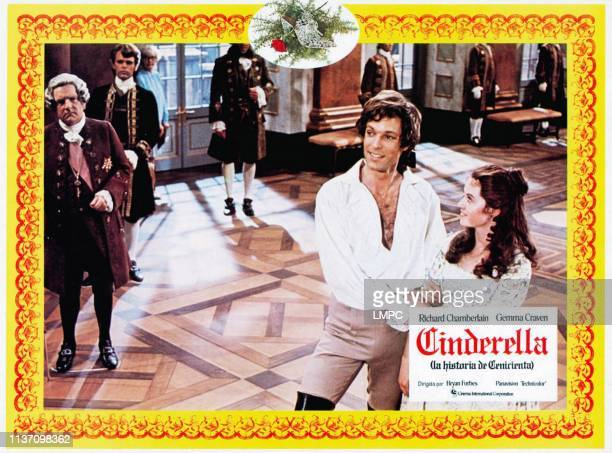 The Story Of Cinderella lobbycard aka CINDERELLA front from left Kenneth More Richard Chamberlain Gemma Craven 1976