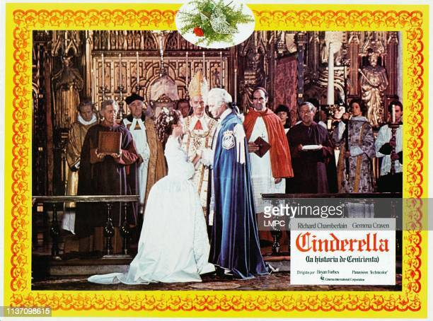 The Story Of Cinderella lobbycard aka CINDERELLA front from left Gemma Craven Geoffrey Bayldon Richard Chamberlain 1976