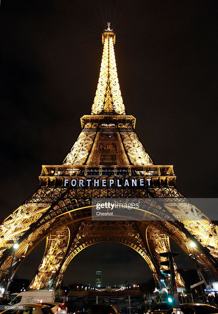 The Eiffel Tower Displays Messages As Part Of 21st Session Of