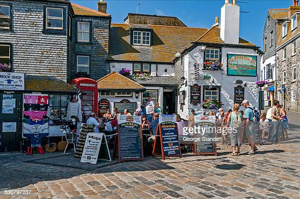 the sloop inn st ives cornwall - st. ives cornwall stock pictures, royalty-free photos & images