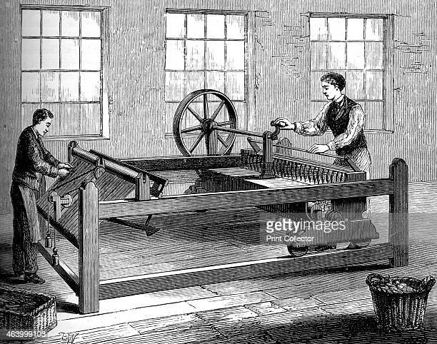 The Slubbing-Billy, c1880. A machine for drawing out and twisting a strand of silk or other yarn in preparation for spinning. A print from Great...