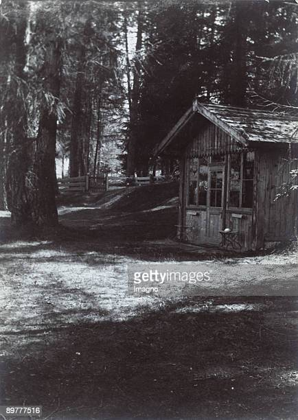 The small composing cottage of the Austrian composer Gustav MahlerToblach Southern Tyrol Photograph Around 1920