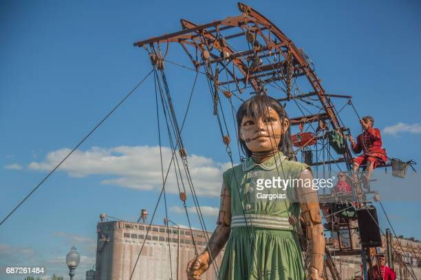 The small giant in Montreal for the festivals of the 375 years of the city, Canada