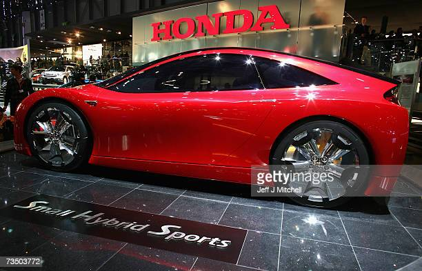 The Small Hybrid Sports car from Honda displayed at the 77th International Motor Show February 62007 in Geneva Switzerland The first major car show...