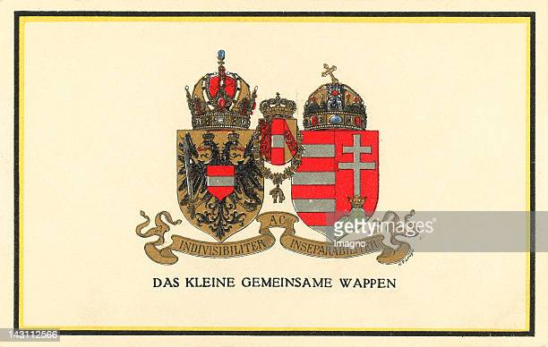 The small Joint Coat of Arms of the AustroHungarian monarchy Lithograph around 1915