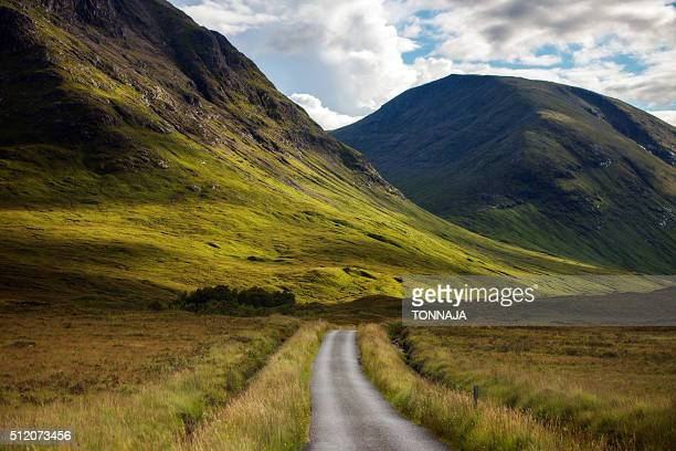 The small road in Glencoe, Highland