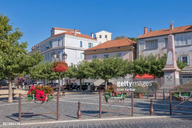 The small square at   Antibes old town, Alpes Maritimes, France