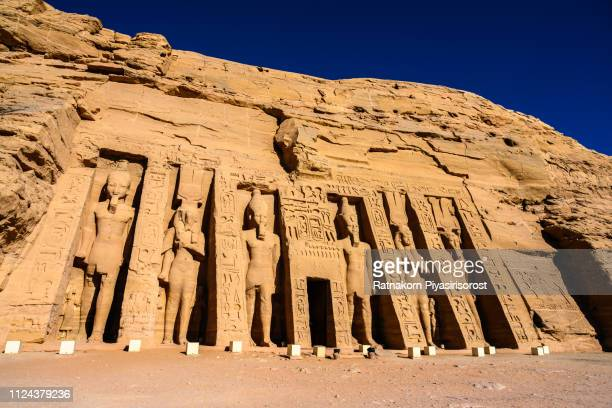 the small temple of nefertari. abu simbel, egypt - nubia stock pictures, royalty-free photos & images
