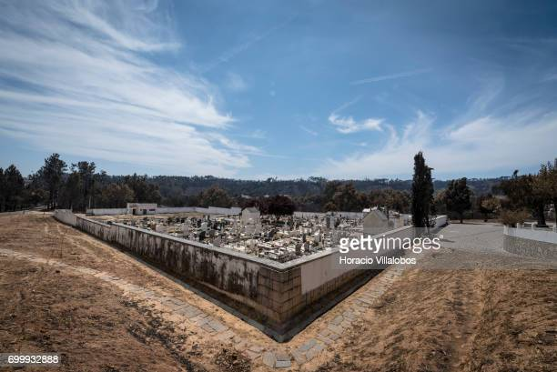 The small village cemetery where forest fire victims are being buried on June 22 2017 in Vila Facaia Portugal This small village part of Pedrogao...