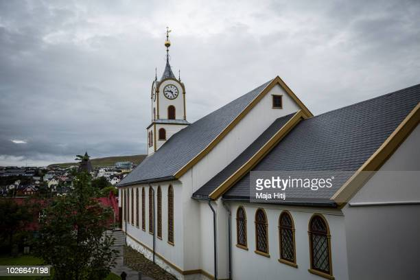 The small wooden cathedral on September 04 2018 in Torshavn Faroe Islands The Faroe Islands situated between Scotland and Iceland is part of Denmark...
