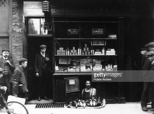 The smallest shop in London occupied by a cobbler at 4 Bateman Street Soho The shop is six feet long five feet high and two feet deep the rent three...