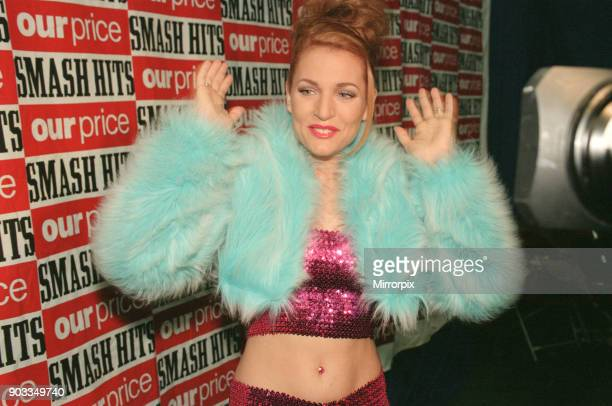 The Smash Hits Poll Winners Party 1996 hosted by Ant and Dec and Lily Savage Picture taken 1st December 1996 Picture shows singer Gina G