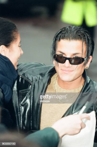 The Smash Hits Poll Winners Party 1996 hosted by Ant and Dec and Lily Savage Picture taken 1st December 1996 Picture shows the Peter Andre arriving...