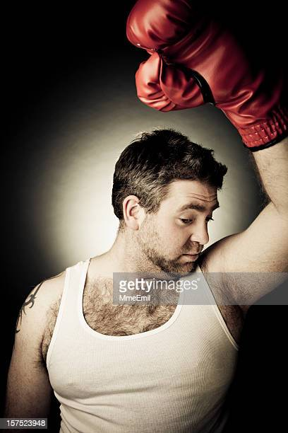 the smell of victory - male armpits stock pictures, royalty-free photos & images