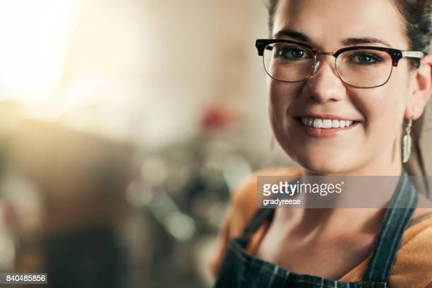 La sonrisa de éxito de pequeñas empresas