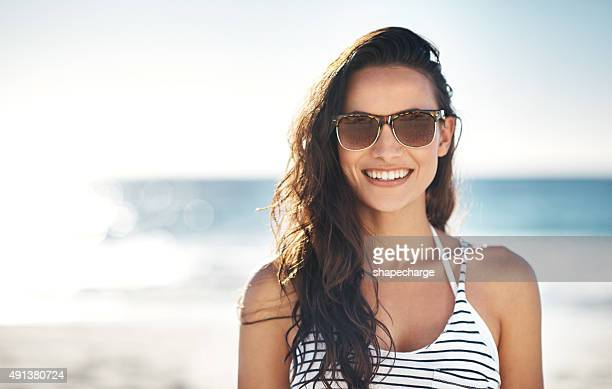 the smile that only summer can bring - sunglasses stock pictures, royalty-free photos & images