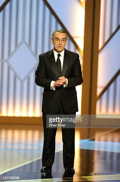 The Smith Center for the Performing Arts Chairman Don Snyder speaks onstage during the opening night of The Smith Center on March 10 2012 in Las...