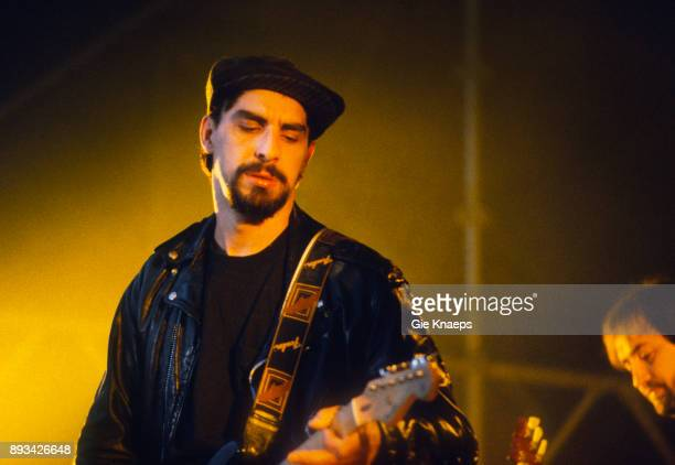 The Smithereens Pat DiNizio Jim Babjak performing at Apollorock Festival Meerhout Belgium 19th May 1990