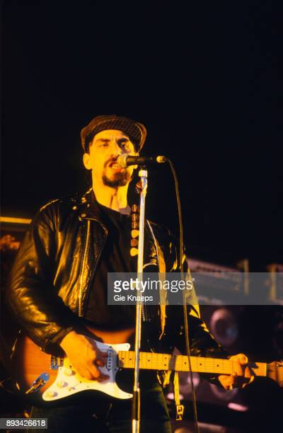 The Smithereens Pat DiNizio performing at Apollorock Festival Meerhout Belgium 19th May 1990