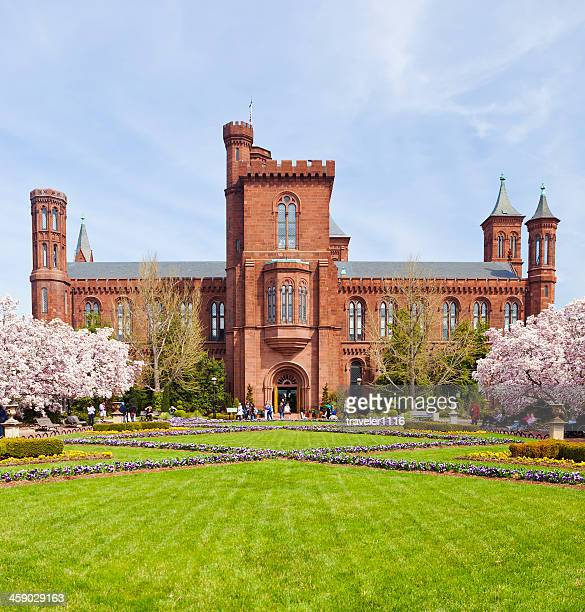 The Smithsonian Castle In Washington DC.