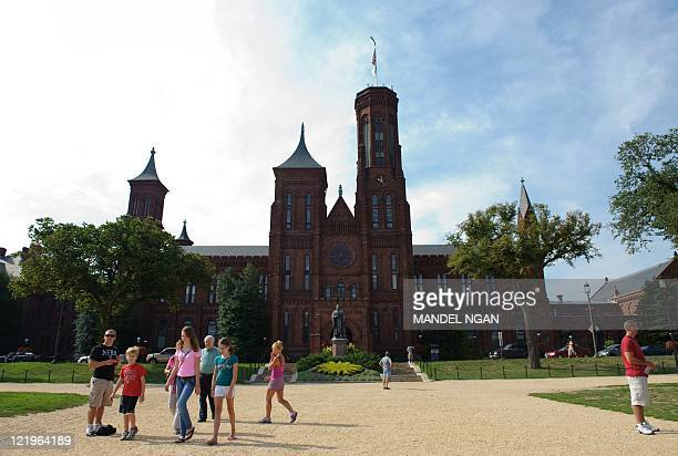 The Smithsonian Castle is seen a on August 24 2011 in Washington DC one day after a large earthquake struck the region The building closed after the...