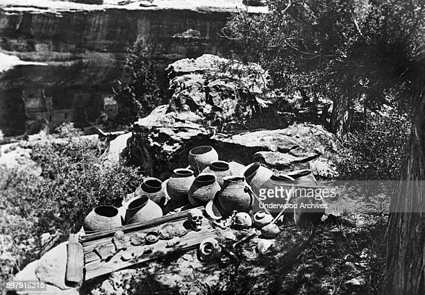 The Smithsonian Institute is finding many strange discoveries as they explore the home of the 'Cliff Dwellers' in Mesa Verde, Mesa Verde National...