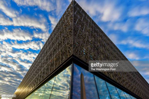The Smithsonian Institute's National Museum of African American History and Culture NMAAHC sits near the Washington Monument on Tuesday August 9 in...