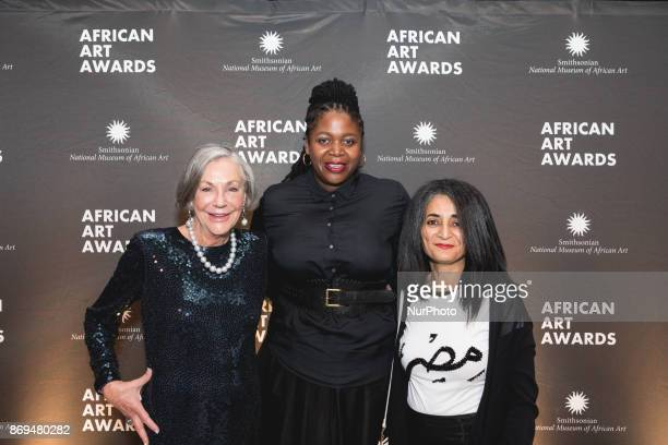 The Smithsonian National Museum of African Art's 2nd annual African Art Awards Dinner honorees philanthropist Alice Walton and artists Ghada Amer and...
