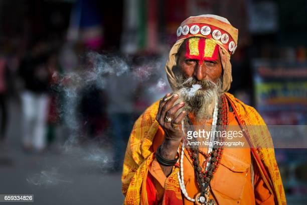 The smoking baba