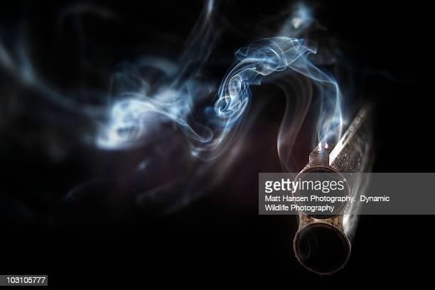 the smoking gun - gun stock pictures, royalty-free photos & images
