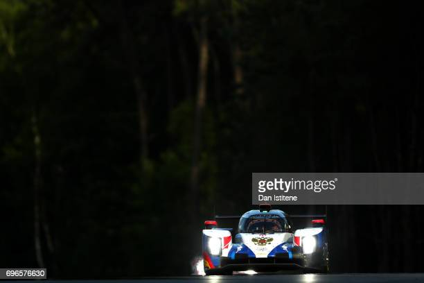 The SMP Racing Dallara of Mikhail Aleshin Viktor Shaytar and Sergey Sirotkin drives during qualifying for the Le Mans 24 Hour Race at Circuit de la...
