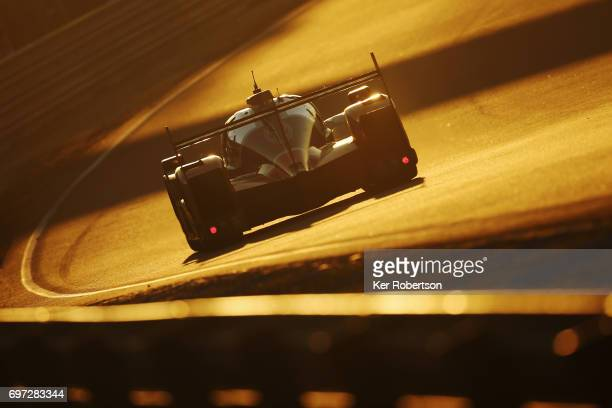The SMP Racing Dallara of Mikhail Aleshin Viktor Shaytar and Sergey Sirotkin drives during the Le Mans 24 Hours race at the Circuit de la Sarthe on...