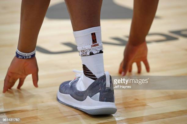 The sneakers and socks of a player during the NBA Draft Combine Day 1 at the Quest Multisport Center on May 17 2018 in Chicago Illinois NOTE TO USER...